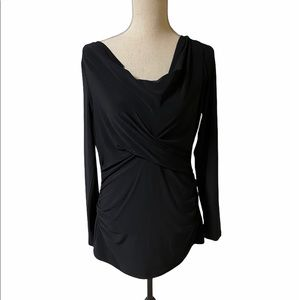 Vince Camuto long sleeve top size large black